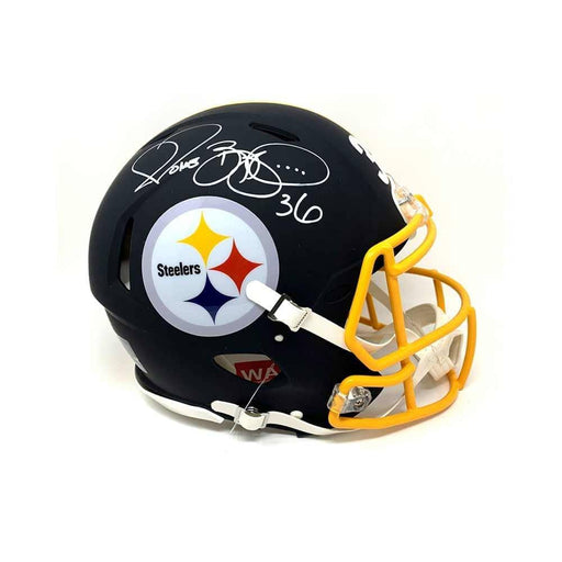 Jerome Bettis Autographed Pittsburgh Steelers BLACK MATTE Authentic Helmet