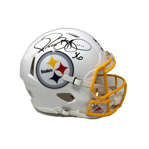 Jerome Bettis Autographed Pittsburgh Steelers WHITE MATTE Replica Helmet