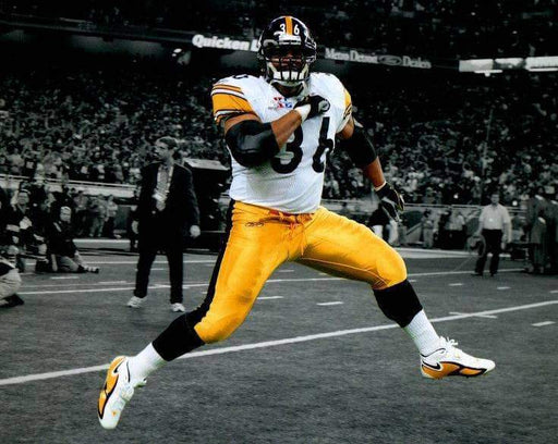 Jerome Bettis in White SB40  Chest Bump Spotlight Unsigned 8x10 Photo