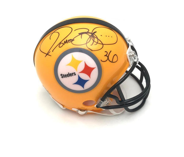 Jerome Bettis Pittsburgh Steelers Autographed 75th Anniversary Mini Helmet