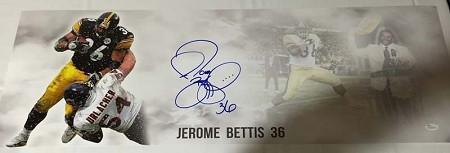 Jerome Bettis Signed Limited Edition Panoramic Photo