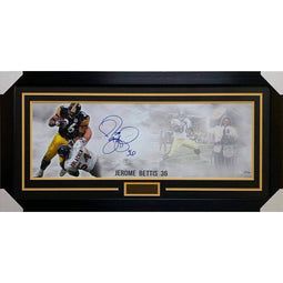 Jerome Bettis Signed Limited Edition Panoramic Photo - Professionally Framed