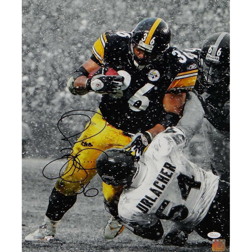 Jerome Bettis Signed Over Brian Urlacher Spotlight 16x20 Photo