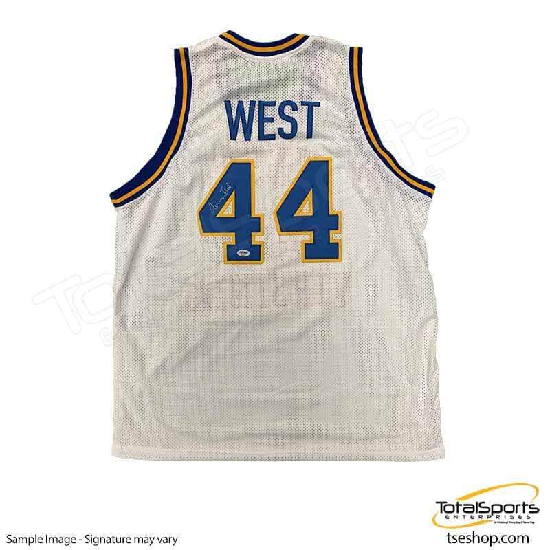 separation shoes cf72d 1e7c5 Jerry West Signed White Basketball Jersey