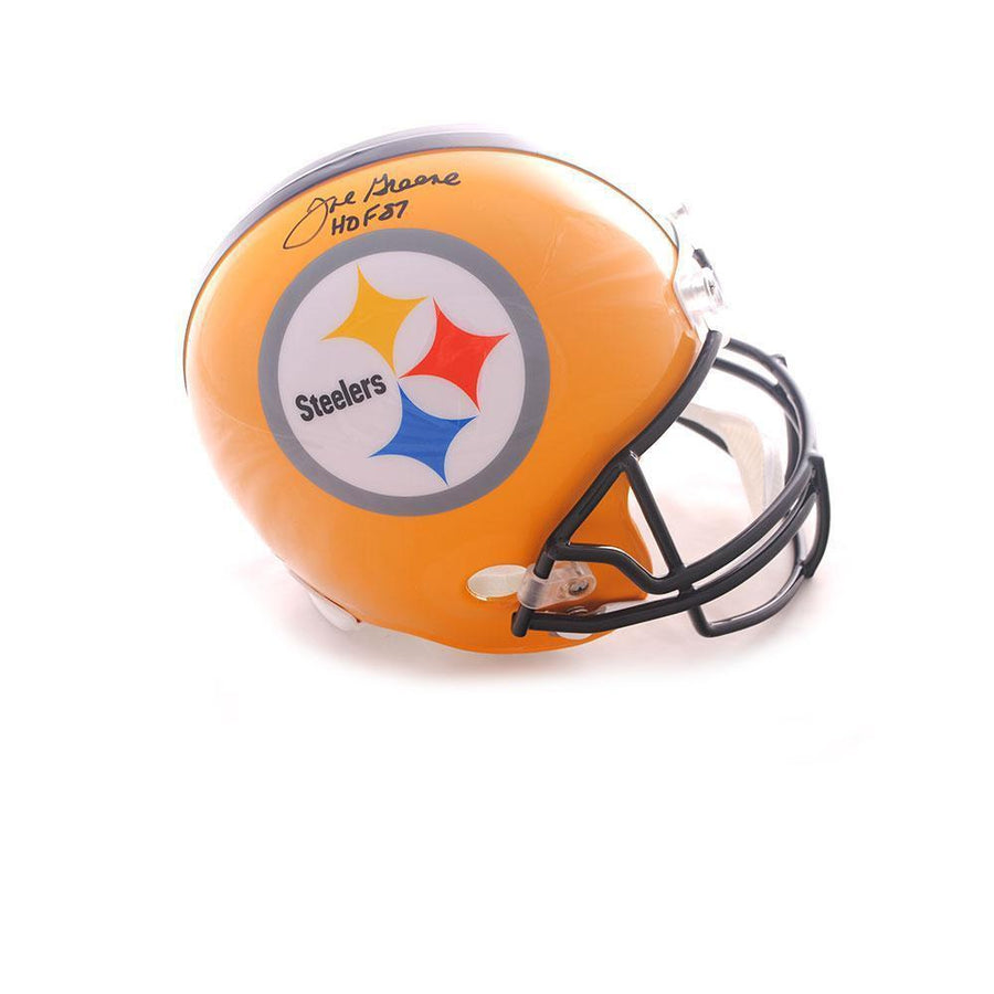 Joe Greene Autographed Full-Size 75th Anniversary Replica Helmet with HOF '87