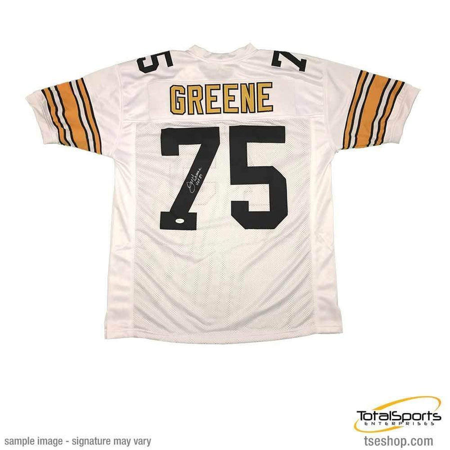 fb39719a142 Signed STEELERS Jerseys Joe Greene Autographed White Custom Jersey w   inscription