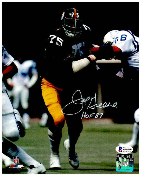 Joe Greene Signed Shedding Block Vs. Colts 8X10 Photo