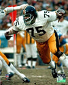 Joe Greene UNSIGNED Attacking in White 16x20 Photo