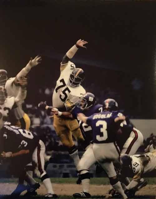 Joe Greene UNSIGNED Jumping 11x14 Photo