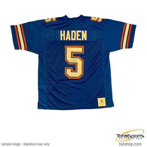 Joe Haden Signed Blue Custom College Jersey