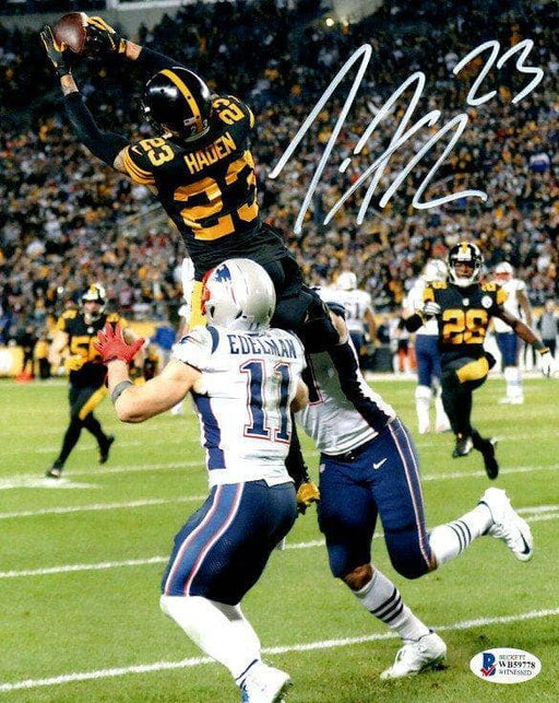 Joe Haden Signed Interception Vs. Pats 11x14 Photo
