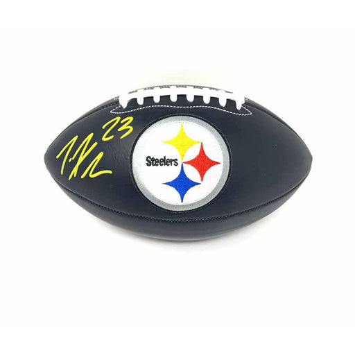 Joe Haden Signed Pittsburgh Steelers Black Matte Logo Football