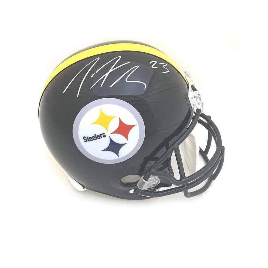 Joe Haden Signed Pittsburgh Steelers Black Replica Full Size Helmet