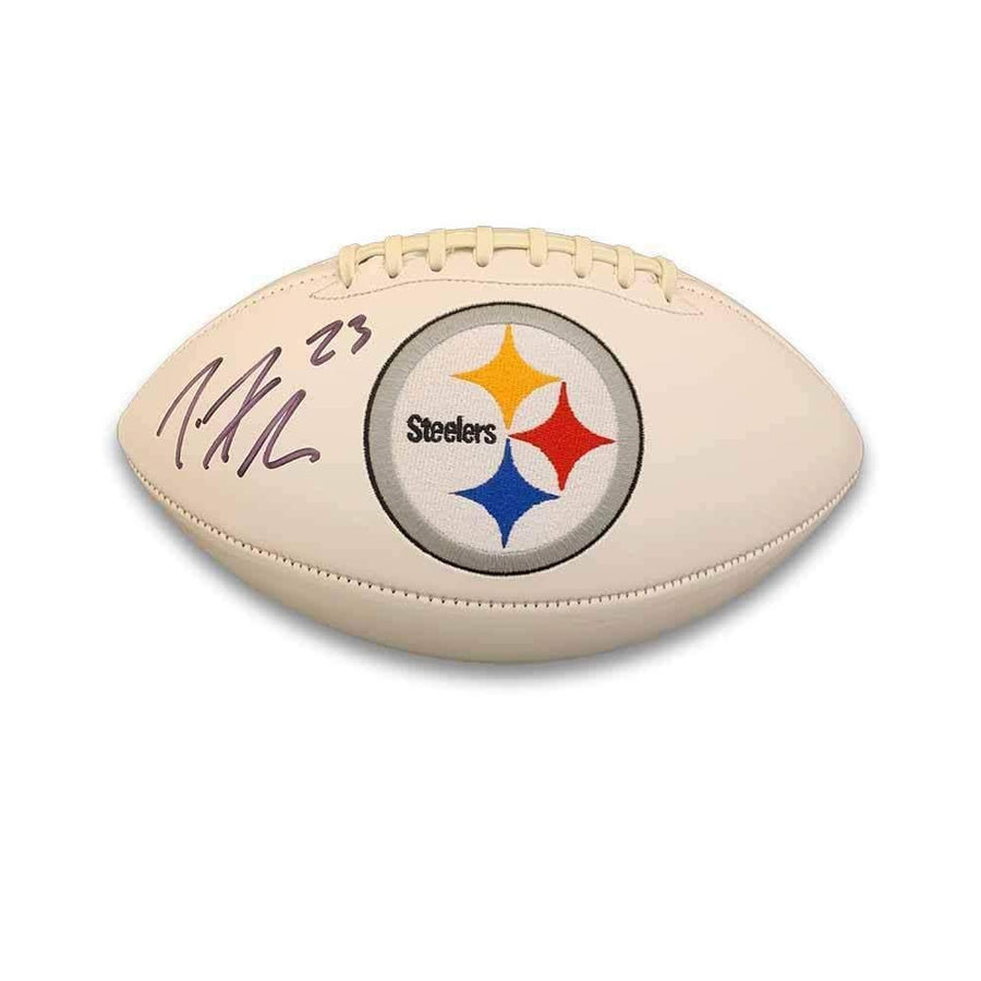 Joe Haden Signed Pittsburgh Steelers White Logo Football