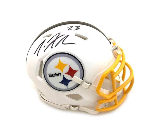 Joe Haden Signed Pittsburgh Steelers WHITE MATTE SPEED Mini Helmet