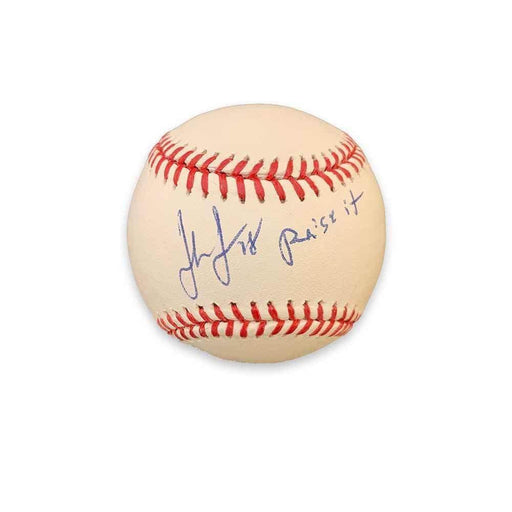 "John Jaso Autographed Official Major League Baseball with ""Raise It!"""