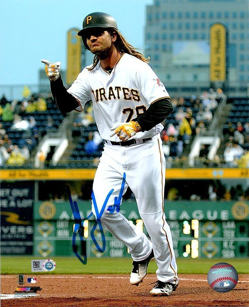 John Jaso Autographed Pointing in White 8x10 Photo