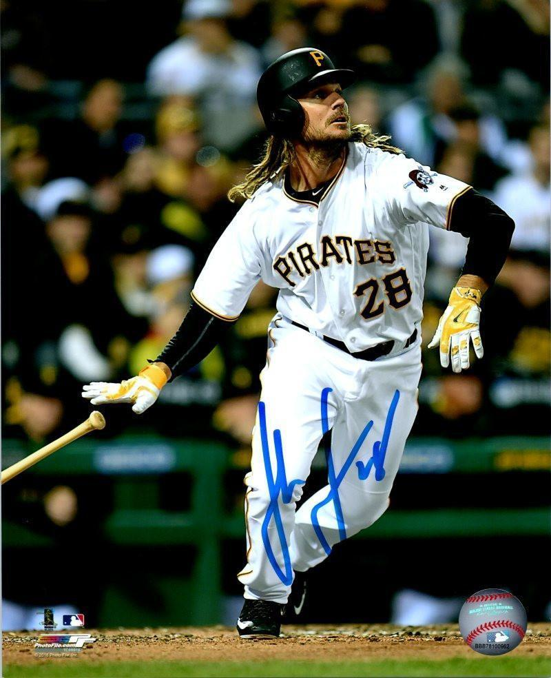 John Jaso Autographed Throwing Bat in White 8x10 Photo