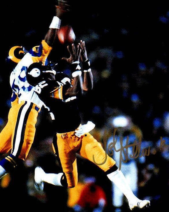 John Stallworth Autographed Catch Over Rams Photo 8x10 Photo