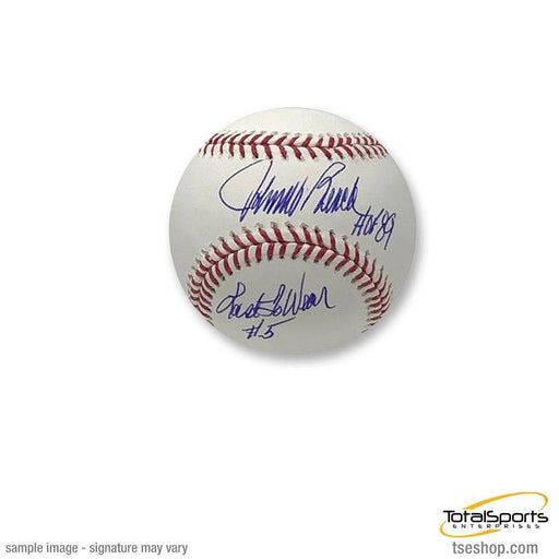 Johnny Bench Autographed MLB Baseball With 'Last to Wear #5' Inscription