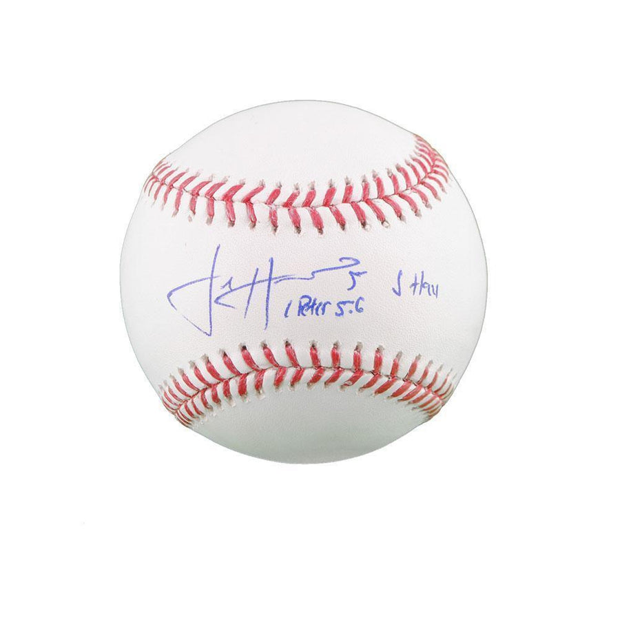 Josh Harrison Autographed Baseball (Peter 5:6) with 'JHay'