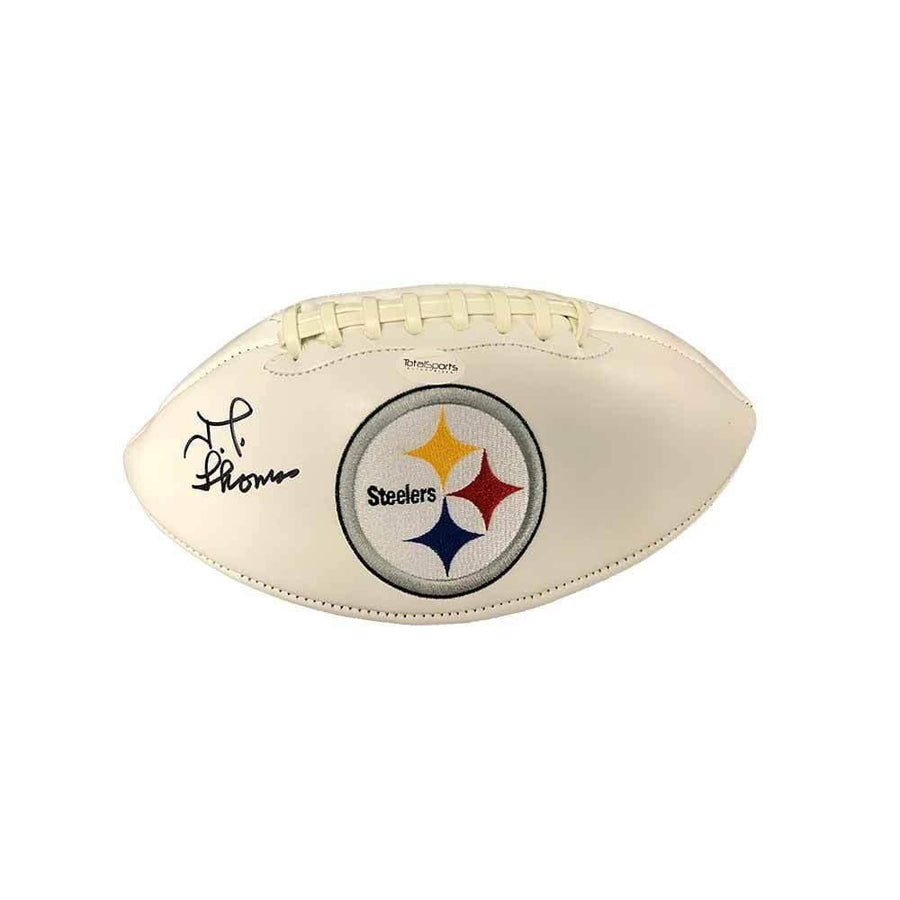 JT Thomas Autographed Pittsburgh Steelers White Logo Football