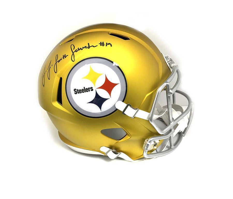 JuJu Smith-Schuster Autographed Pittsburgh Steelers BLAZE Mini Helmet - TSE Exclusive