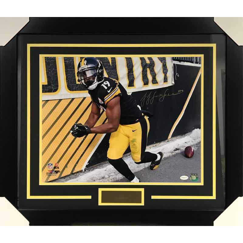 JuJu Smith Schuster Autographed Snowball 16x20 - Professionally Framed