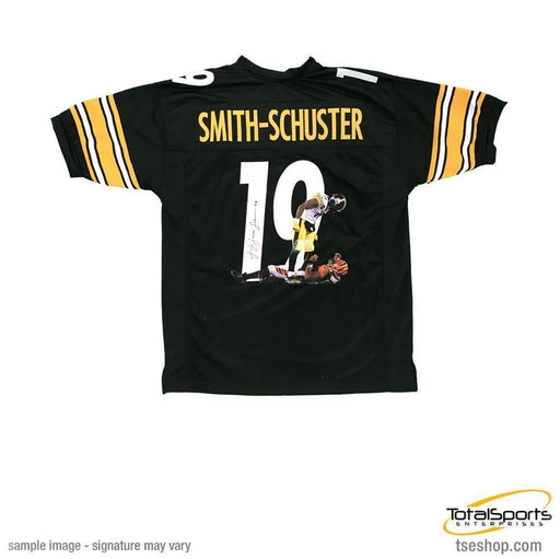 JuJu Smith-Schuster Signed Custom Black PHOTO ENHANCED Jersey
