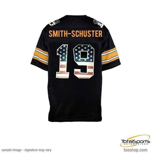 b88ef2d76 JuJu Smith-Schuster Signed Custom Stars and Stripes Jersey
