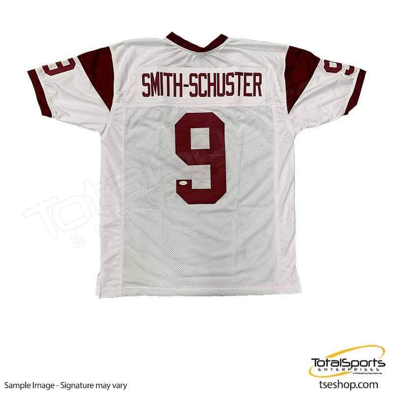 timeless design 10929 ef227 JuJu Smith-Schuster Signed Custom White College Jersey