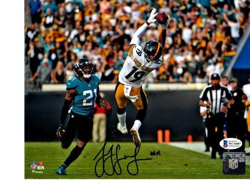 JuJu Smith-Schuster Signed Leaping Catch vs. Jags 8x10 Photo