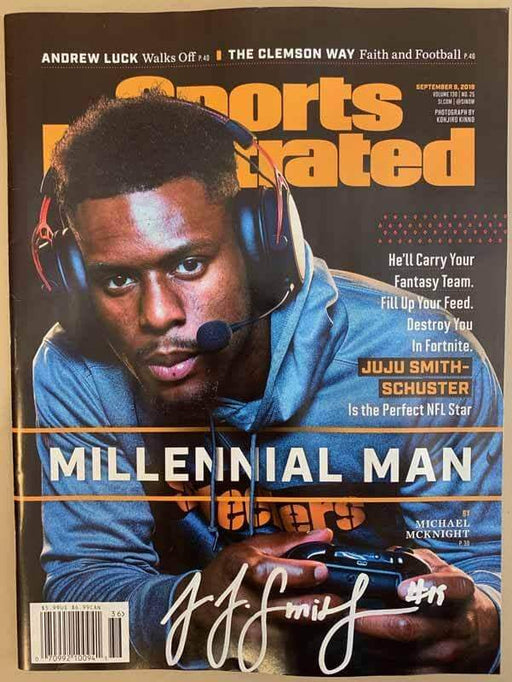 JuJu Smith-Schuster Signed Millennial Man Sports Illustrated Magazine