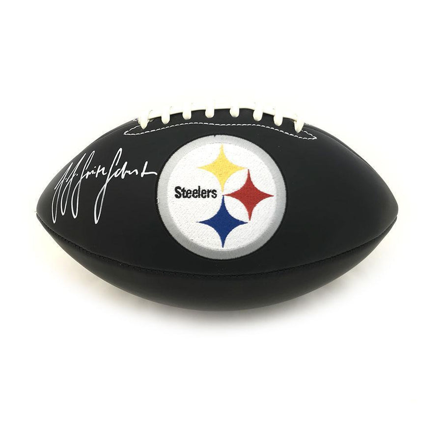 JuJu Smith-Schuster Signed Pittsburgh Steelers Black Matte Logo Football