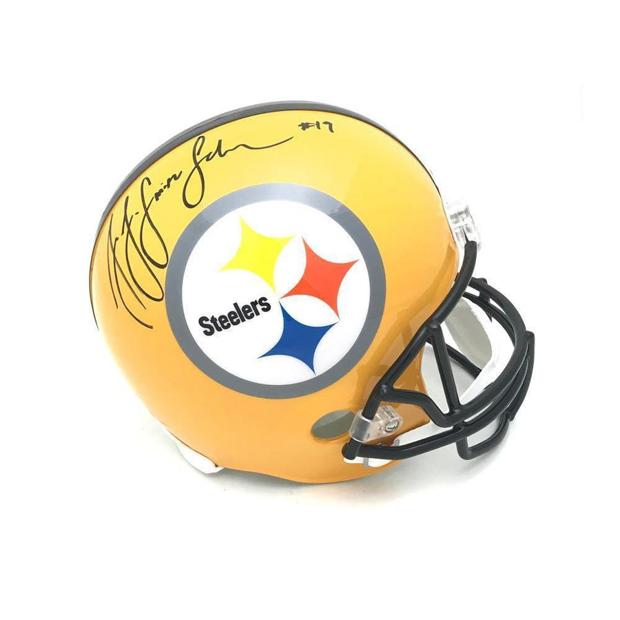 JuJu Smith-Schuster Signed Pittsburgh Steelers Replica 75th Full Size Helmet