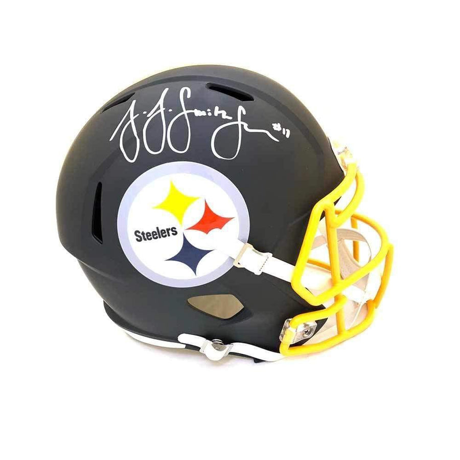 JuJu Smith-Schuster Signed Pittsburgh Steelers Replica Full Size SPEED Matte Helmet with Gold Facemask