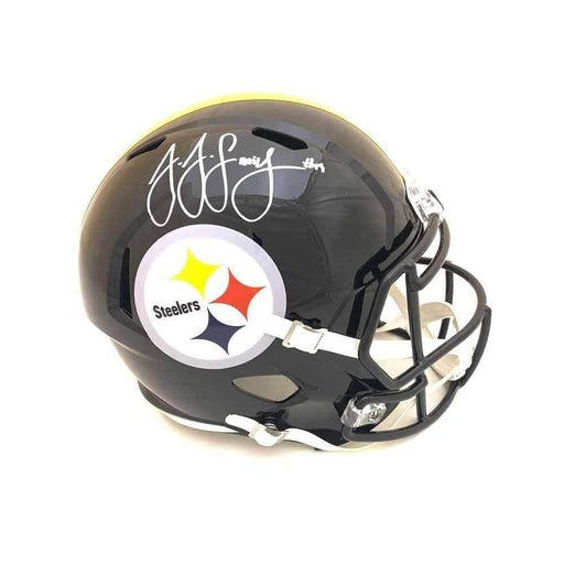 Juju Smith-Schuster Signed Pittsburgh Steelers Speed Replica Full Size Helmet - DAMAGED