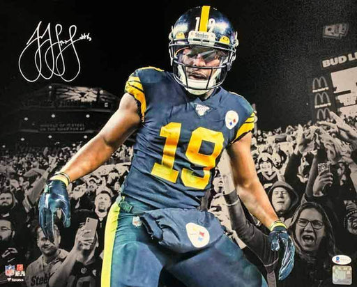 JuJu Smith-Schuster Signed Spotlight Color Rush in Stands 16x20 Photo