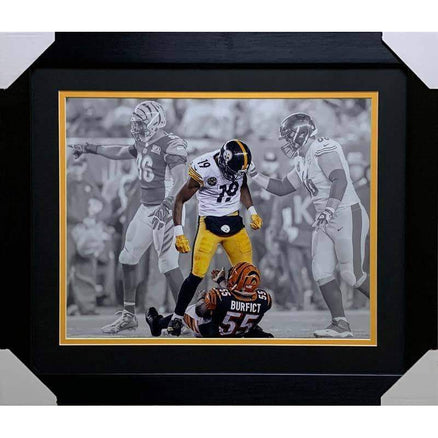 JuJu Smith Schuster UNSIGNED Custom Over Burfict 16x20 Photo - Professionally Framed