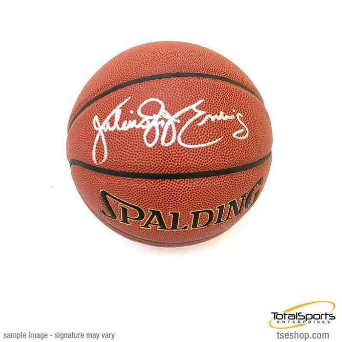 Julius Erving Signed I/O Orange Basketball