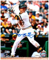 Jung-ho Kang Autographeded Batting in Retro White Vertical 8x10
