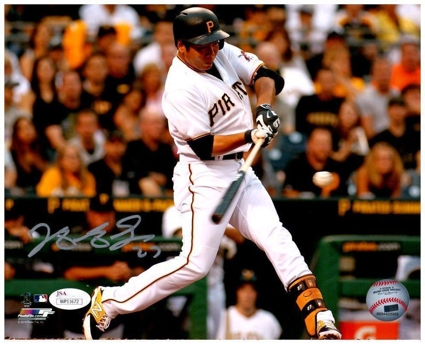 Jung-ho Kang Signed Batting in White 8x10