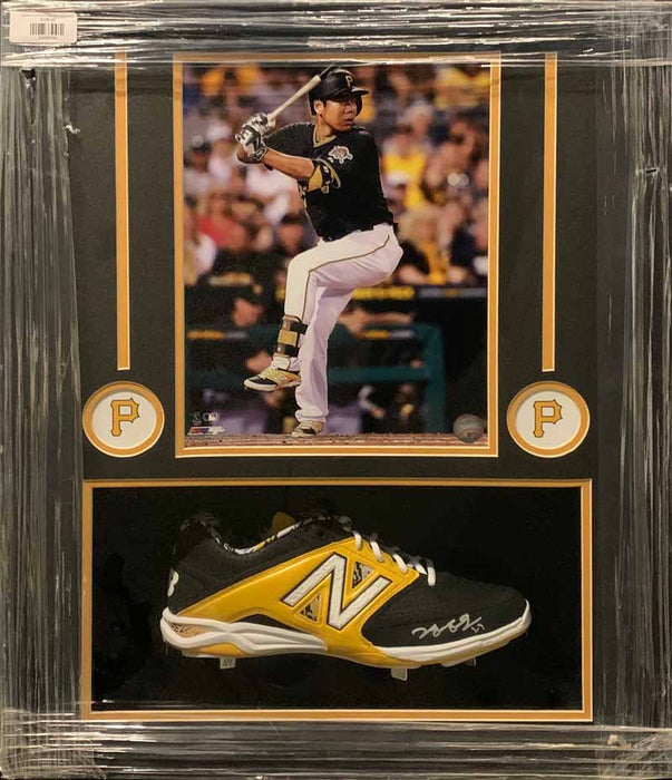 Jung-Ho Kang Signed Cleat With 11X14 Photo - Professionally Framed