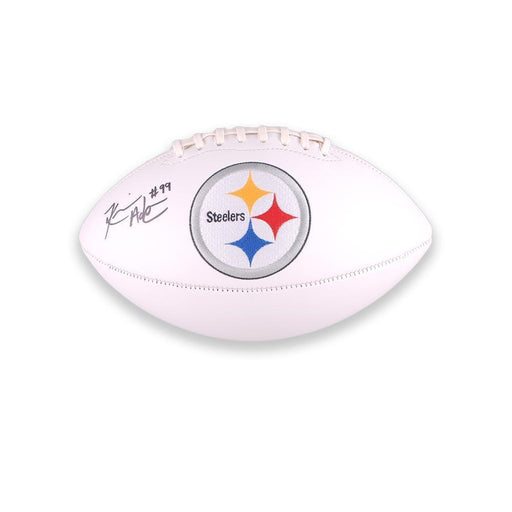 Keion Adams Signed Pittsburgh Steelers White Logo Football