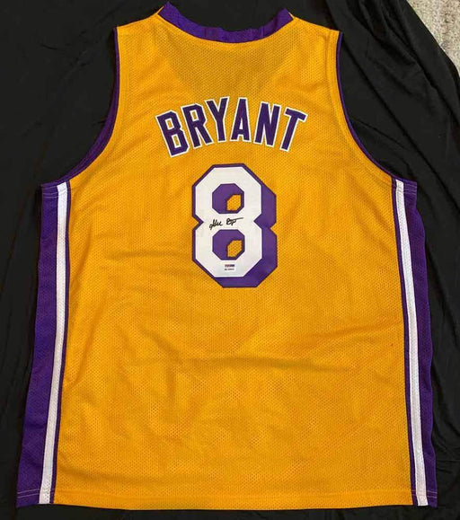 Kobe Bryant Signed Yellow Custom Stitched Basketball Jersey with PSA/DNA Authentication