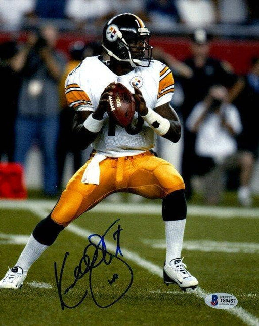 Kordell Stewart Signed Dropping Back in White 8x10 Photo