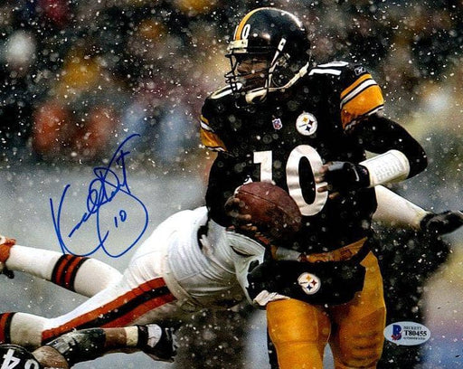 Kordell Stewart Signed With Ball in Snow 8x10 Photo
