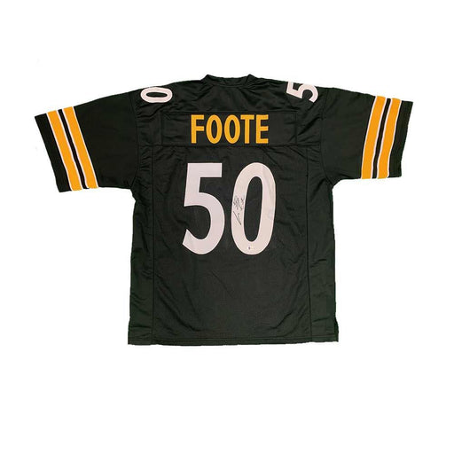 Larry Foote Autographed Custom Black Football Jersey