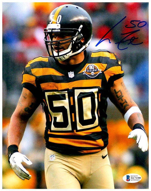 Larry Foote Autographed IN Bumblebee 8x10 Photo