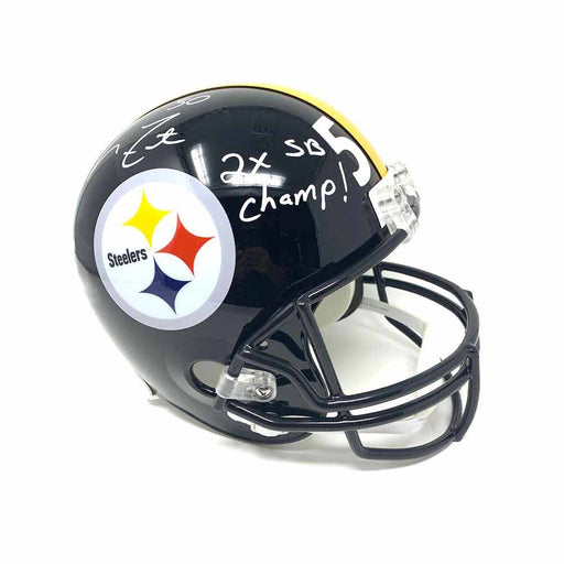 Larry Foote Autographed Pittsburgh Steelers Full Size Replica Helmet with 2X SB Champs